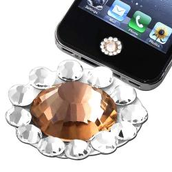 Orange Diamond Home Button Sticker for Apple iPhone/ iPad/ iPod Touch