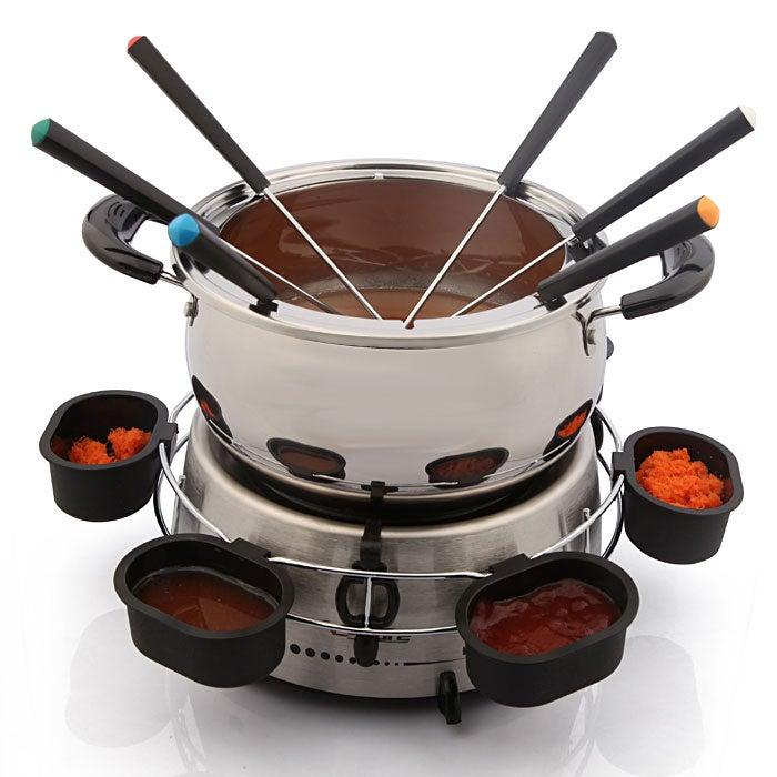 E-Ware Electric Stainless Steel Fondue Pot Set