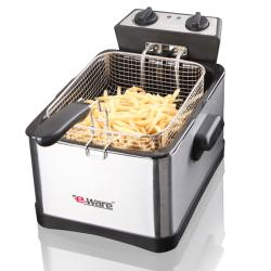 E-Ware Electric Stainless Steel 16-cup Deep Fryer