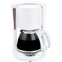 Brentwood TS-218 White Digital 12-cup Coffeemaker