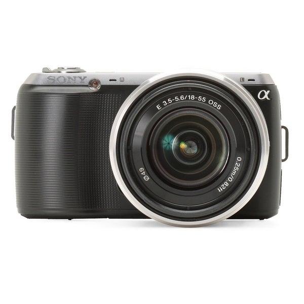 Sony Alpha NEX-C3 16.2MP Black Digital SLR Camera with 18-55mm Lens