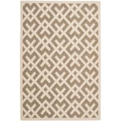Safavieh Poolside Brown/Bone Indoor/Outdoor Polypropylene Area Rug (9' x 12')