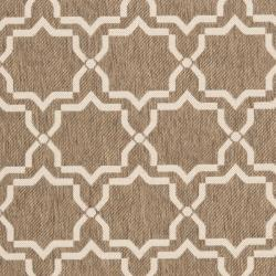Safavieh Poolside Brown/ Bone Indoor/ Outdoor Area Rug (8' x 11'2)