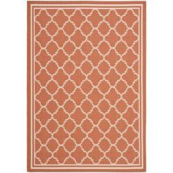 Safavieh Poolside Terracotta/ Bone Indoor Outdoor Rug (4' x 5'7)