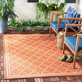 Safavieh Poolside Terracotta/ Bone Indoor Outdoor Rug (5'3 x 7'7)