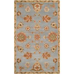 Hand-tufted Blue Amaxo Wool Rug (3'3 x 5'3)