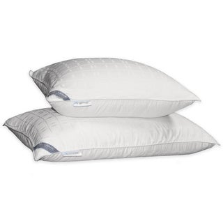 Hotel Grand Tencel Check White Down Pillow