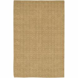 Hand-woven Natural Jute Mandara Tan Rug (7'9 x 10'6)