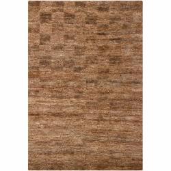 "Handwoven Mandara Wheat Brown Jute Rug (7'9"" x 10'6"")"