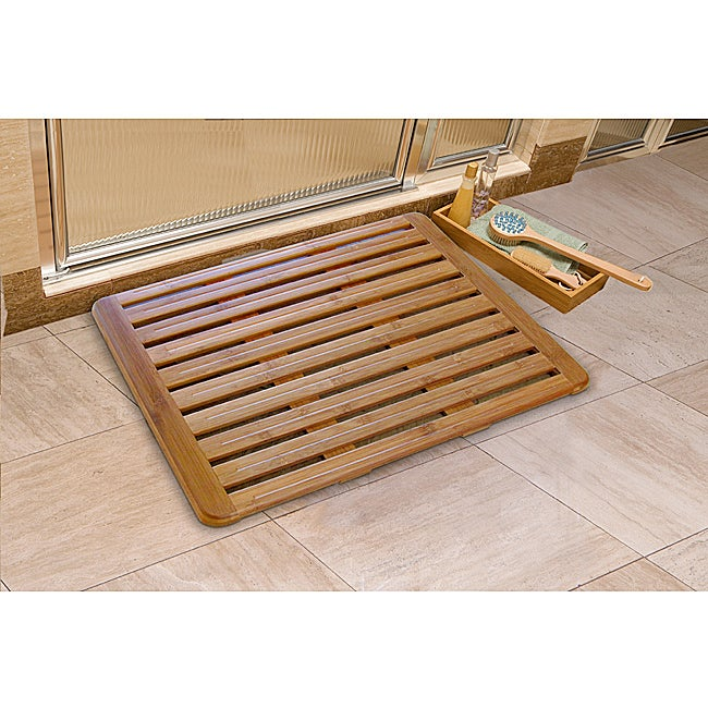 Seville Classics Bamboo 18 x 24 Bath Mat