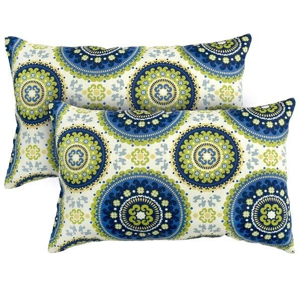 19x12-inch Rectangular Outdoor Summer Accent Pillows (Set of 2)