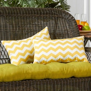Rectangle Outdoor Zags Yellow Accent Pillows (Set of 2)