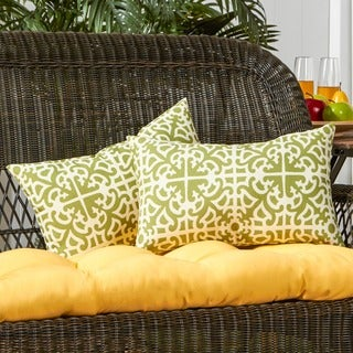 19x12-inch Rectangular Outdoor Grass Accent Pillows (Set of 2)