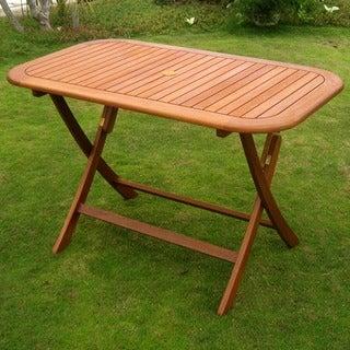 International Caravan Royal Tahiti Rectangular Hardwood Folding Dining Table (48 x 28)