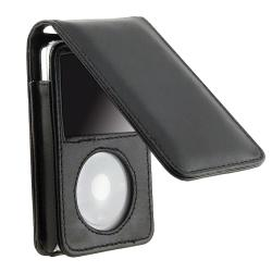 INSTEN Leather iPod Case Cover w/ Strap for 30GB iPod Video, Black