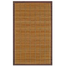 Zenith Bamboo Rug with Brown Border (5' x 8')