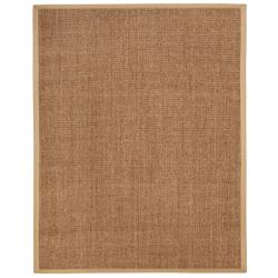 Beachcomber Sisal Boucle Weave Rug with Khaki Cotton Border (5' x 8')