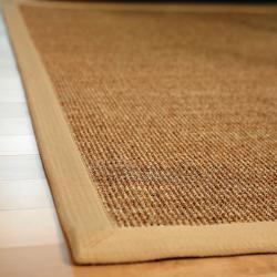 Beachcomber Sisal Boucle Weave Rug with Khaki Cotton Border (8' x 10')