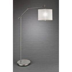 Contemporary 1-light Brushed Nickel Floor Lamp