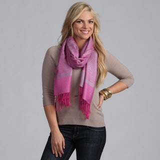 Women's Hot Pink and Silver Shawl Wrap