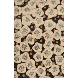 Smithsonian Hand-tufted Beige Tunceli Floral Wool Rug (9' x 13')