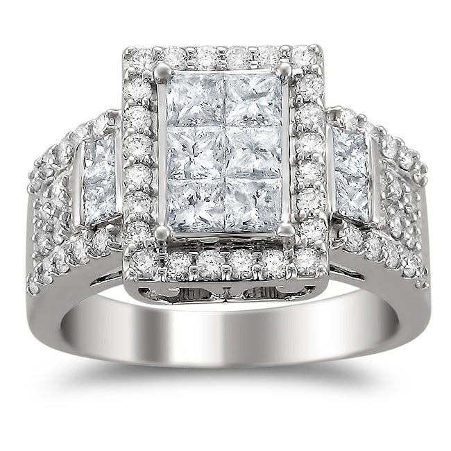 14k White Gold 2ct TDW Diamond Composite Engagement Ring (H-I, I1-I2)