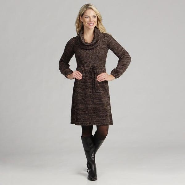 Calvin Klein Women's Cowl Neck Balloon Sleeve Sweater Dress FINAL SALE