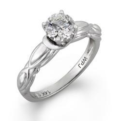 14k White Gold 5/8ct TDW Round Diamond Engagement Ring (H-I I1)