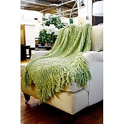 Charlotte Acrylic Willow Ruffle Throw