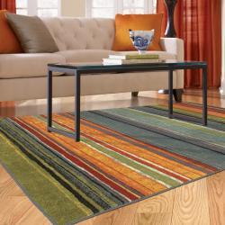 Rainbow Multi Stripe Rug Rug (8' x 10')