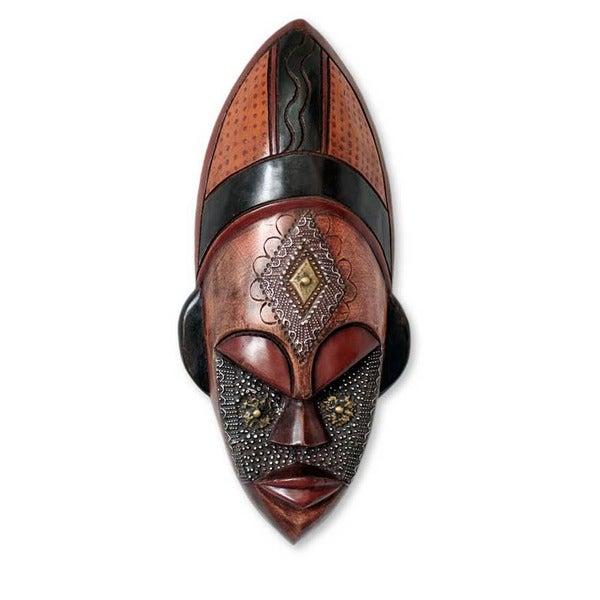 Sese Wood 'Dan Beauty' African Mask (Ghana)