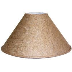 Medium Brown Burlap Coolie Lamp Shade
