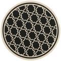 Safavieh Poolside Black/Beige Indoor/Outdoor Polypropylene Rug (6'7