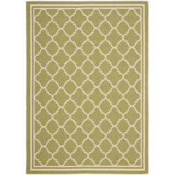 "Safavieh Poolside Green/Beige Indoor/Outdoor Polypropylene Rug (5'3"" x 7'7"")"