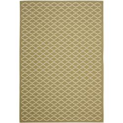 Safavieh Poolside Green/ Beige Indoor Outdoor Rug (9' x 12')
