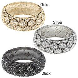 Celeste Crystal Honeycomb Bangle Bracelet
