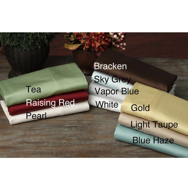 Solid Sateen 600 Thread Count 6-piece Supima Cotton Sheet Set