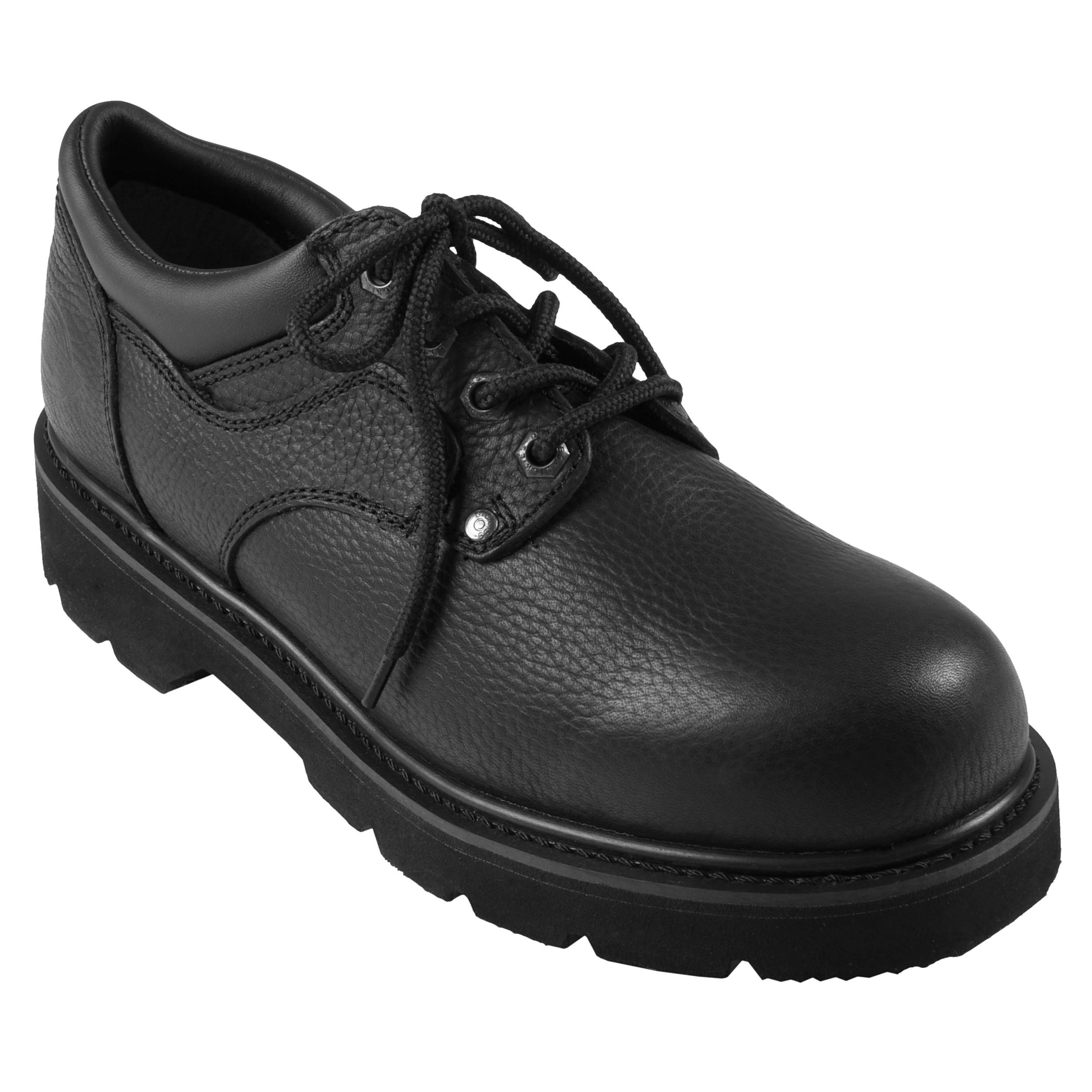 Dickies Men's Wide Oxford Lug Sole Genuine Leather Lace-up Shoe
