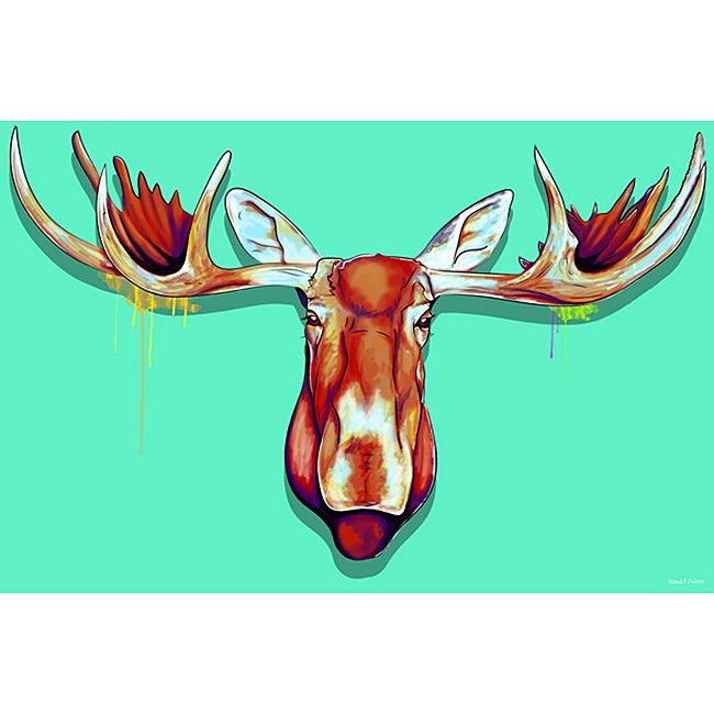 Maxwell Dickson 'Moose Head' Canvas Wall Art