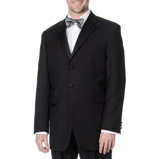 Caravelli Men's Black Satin-Detailed Fully Lined Tuxedo