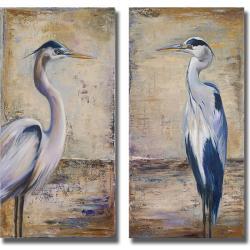 Patricia Pinto 'Blue Heron I and II' 2-piece Canvas Art Set