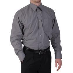 Boston Traveler Men's Point Collar Long Sleeve Dress Shirt