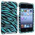INSTEN Blue/ Black Zebra iPod Case Cover for Apple iPod Touch 4th Generation