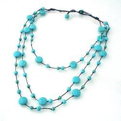 Triple Layer Floating Bubble Cotton Rope Necklace (Thailand)
