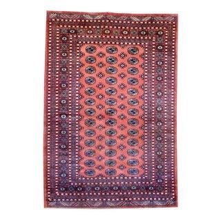 Pakistani Hand-knotted Bokhara Salmon/ Ivory Wool Rug (5'1 x 7'6)