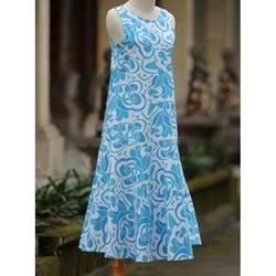 Cotton 'Bali Blue' Batik Dress (Indonesia)