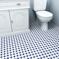 Somertile 11.625x11.625-inch Victorian Octagon Matte White with Cobalt Dot Porcelain Floor and Wall Tile (Case of 10)