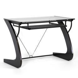 Sculpten Dark Brown Modern Computer Desk