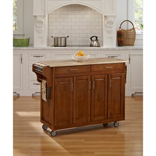 Cottage Oak Finish with Wood Top Create-a-Cart