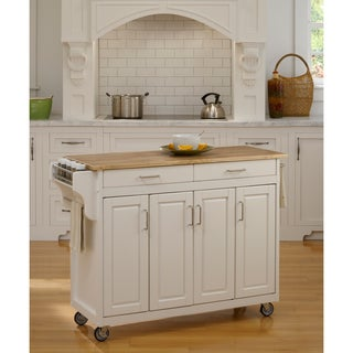 Home Styles White Wood Top Create-a-Cart